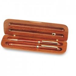 Set pix și stilou din lemn trandafir Sejour