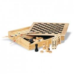 Set 4 jocuri în cutie din lemn Trikes