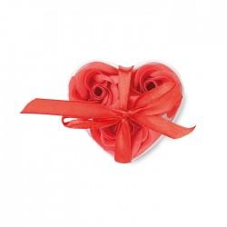 Săpun floral în formă de inimă Roos