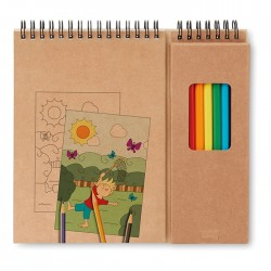 Set de desenat cu carnet Colopad