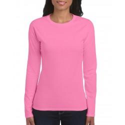 Tricou damă mânecă lungă Gildan Softstyle