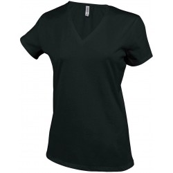 Tricou damă cu guler formă V Electra
