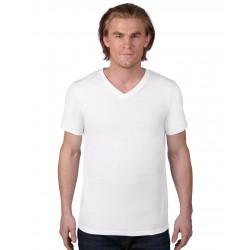 Tricou bărbați guler V Anvil Fashion