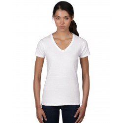 Tricou damă guler V Anvil Fashion Basic