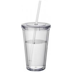 Pahar din plastic cu pai 450ml