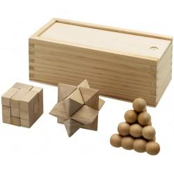 Set 3 jocuri logice Brainiac din lemn
