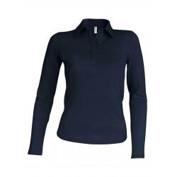 Tricou polo mânecă lungă damă Kariban Pique