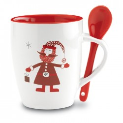 Cană Crăciun personalizată cu Moş Crăciun