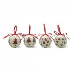 Set globuri Crăciun Cvadril 4 piese