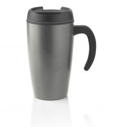 Cană cafea inox promoțională 400 ml cu capac