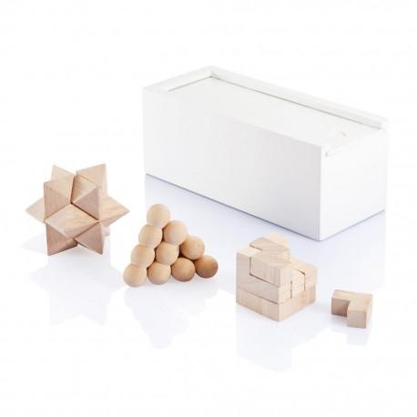 Set 3 jocuri logice din bambus
