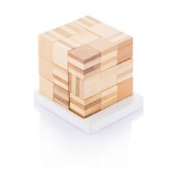Joc logic cu cuburi din bambus