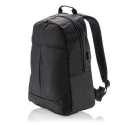 Power USB laptop backpack, black