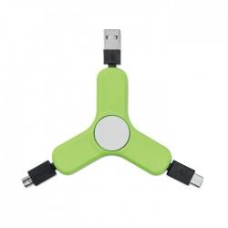 Cablu de incarcare tip fidget spinner