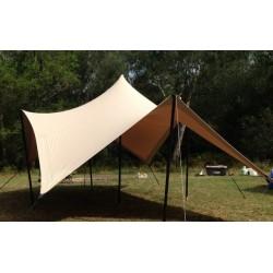 Cort Stretch 4.5x6 m material Stretchflex cu poli extensibili