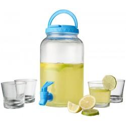 Dispenser limonada 3L cu 4 pahare