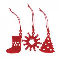 Ornamente brad Craciun personalizate rosii