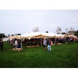 Inchirieri corturi evenimente pentru festivaluri 20x15 m material waterproof