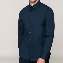 Camasa personalizata stretch pentru barbati Kariban K541 culoare Navy