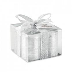 Set de 4 lumanari argintii Silver