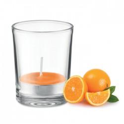 Lumanare parfumata in pahar transparent