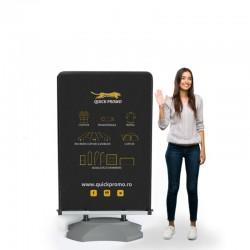 Panou publicitar stradal mobil rezistent la vant AS100