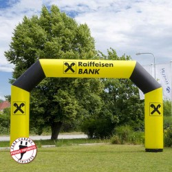 Poarta gonflabila personalizata Raiffeisen