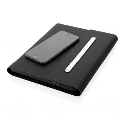 Agenda multifunctionala cu power bank 5000 mAh si incarcare wireless