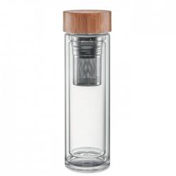 Termos din sticla cu infuzor de ceai 420 ml Teatermos