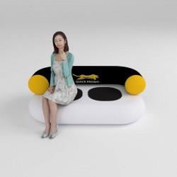 Canapea gonflabila personalizata AXION Chillout culoare gri