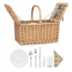Cos picnic din rachita pentru 4 persoane