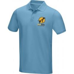 Tricou polo personalizat din bumbac organic culoare bleu