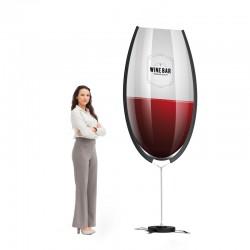 Steag personalizat tip pahar de sampanie sau vin, 3.10m