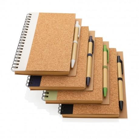 Notebook cu pix si coperta din pluta