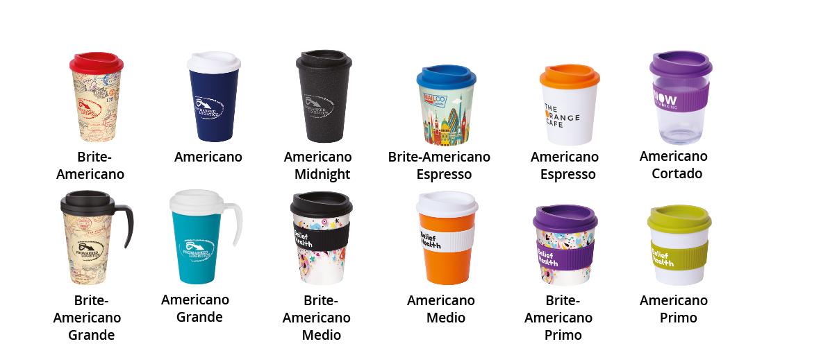 Tipuri de pahare personalizate Americano