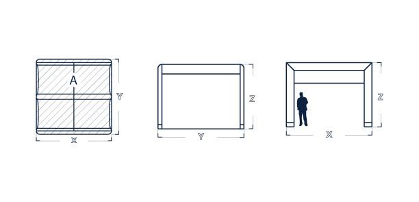 Dimensiuni cort Axion Cube 33