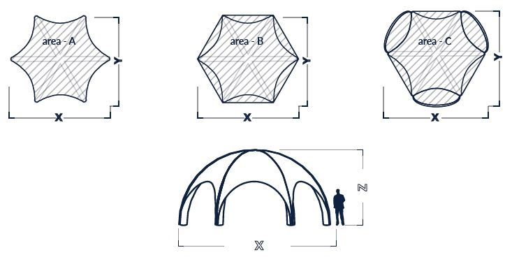 Dimensiuni cort dom Axion Spider 8