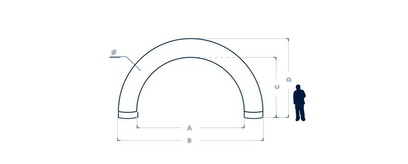 Dimensiuni poarta rotunda pentru concurs Axion