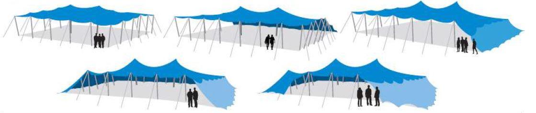 Modalitati instalare cort evenimente stretch 9x12 m